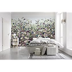 Komar XXL4-035 Vlies Fototapete Botanica Tapete, Wand Dekoration, Blumen, Schlafzimmer, Romantik-XXL4-035, Violett, 368 x 248 cm, 4 Stück
