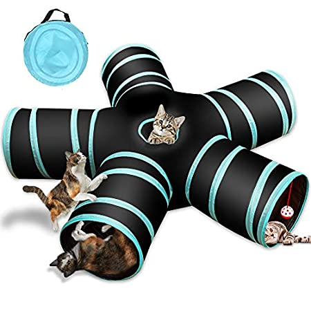 Katzenspielzeug Katzentunnel, Katze Spielzeug Hundenspielzeug Spieltunnel 5-Wege Pet Play Tunnel Tube für Katze, Welpe…