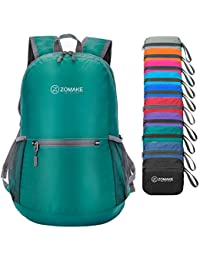 ZOMAKE Ultra Lightweight Foldable Backpack Water Resistant Hiking Daypack 03a3c27245f2f