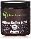 Best Organic Scrubs - Premium Nature Natural Arabica Coffee Scrub, 8 oz Review