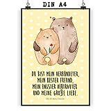 Mr. & Mrs. Panda Poster DIN A4 Bären Liebe - Liebe, Verliebt, Verlobt, Verheiratet, Partner, Freund, Freundin, Geschenk Freundin, Geschenk Freund, Liebesbeweis, Jahrestag, Hochzeitstag, Verlobung, Geschenk Hochzeit, Bären, Bärchen, Bär Poster, Wandposter, Bild, Wanddeko, Geschenk