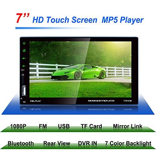 Sedeta Audio 7701 Double Din Reproductor carMP5 Receptor estéreo de - De Video Nueva Camara