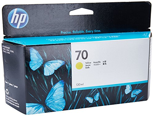 HP 70 Gelb Original Tintenpatrone, 130 ml