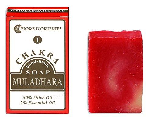 Fiore D'Oriente Muladhara 1. Chakra 100% natürliche handgemachte Seife 70 gr. -