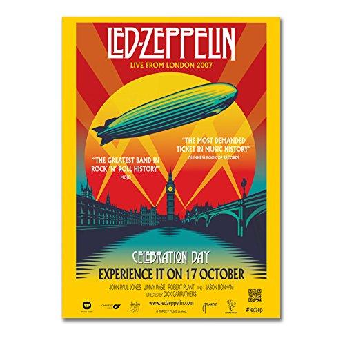 """Poster Alta Qualità -""""Led Zeppelin Celebration Day"""" - su carta lucida fotografica - Formato, 50cmx70cm"""