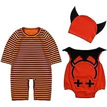 Le SSara Baby Devil   vampiro Halloween Romper neonato Body costume abiti  3pcs e61d156d9c7