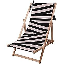 Hamaca de madera de calidad Premium, cómoda, regulable y plegable. Hamaca de playa y jardín de madera de eucalipto. Por Ziloo, Zebra