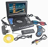 #8: DVD Player Portable 9.8 3D EVD with USB Playback TFT Swivel Flip Screen Game + MP3 + Card Reader Support + 3D Support shopperzone™