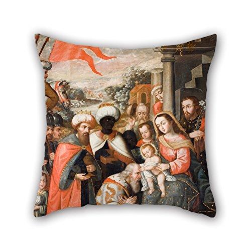 uloveme-pintura-al-oleo-anonimo-cusco-school-adoracion-de-los-reyes-magos-funda-de-almohada-mejor-pa