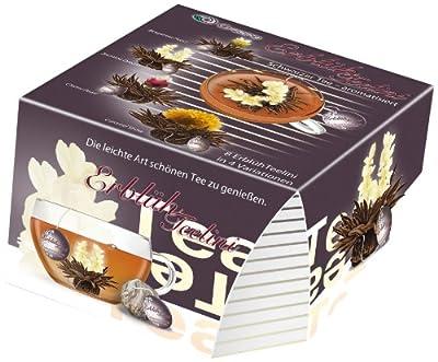 Creano Boîte de 8 fleurs de thé noir aromatisé bergamote, jasmin, cerise et caramel 40 g