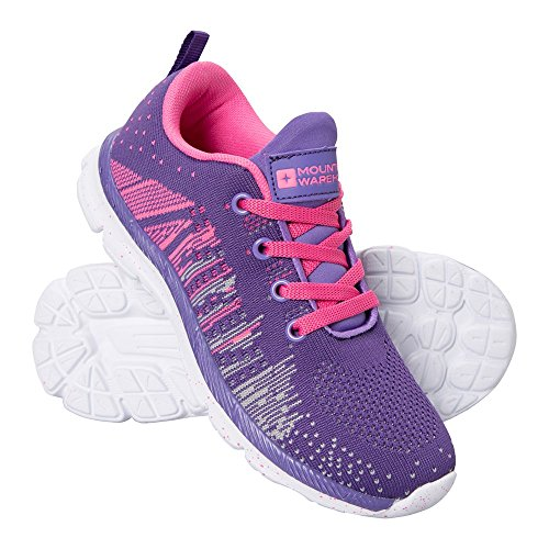 Mountain Warehouse Knitted Kids Trainers Pink 13 Child UK
