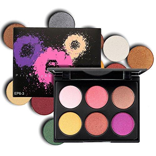 Paleta de Sombra de Ojos, AMBITO 6 Colores Cosmeticos Maquillaje de Belleza Ojo Sombreador Shimmer Smokey Shadow Conjunto de Paleta para mujer - #3