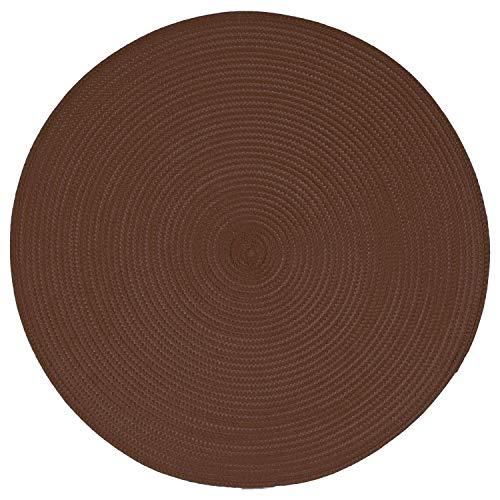 Izaneo - Set de table rond chocolat