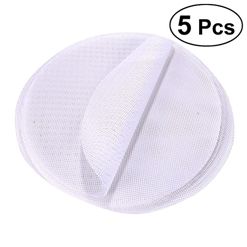 BESTONZON 5 Pcs Reusable Kitchen Silicone Steamer Mesh Non-Stick Pad Round Shape Dumplings Mat Steamed Buns Baking Pastry Dim Sum Mesh-Diameter 30CM -