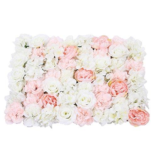 Künstliche Rose Blumen Säule, Kunstblumen Panel für Garten Hochzeit Dekoration, Farbwahl - D -