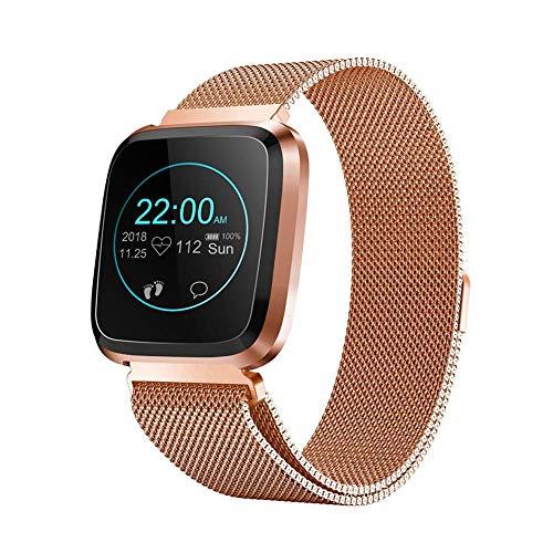 Reloj Inteligente, IP68 A Prueba De Agua Smartwatches, Monitor De Ritmo Cardíaco, Podómetro Para Niños Mujeres Hombres, Reloj Inteligente Bluetooth Con Presión Arterial Para Samsung Android IOS
