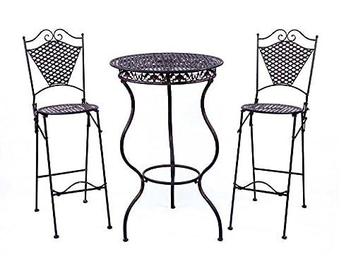 Meubles de jardin fer table de bar de meubles avec deux tabourets de bar style