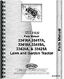 Gilson 33416A Manuel de pièces pour tracteur pelouse et jardin