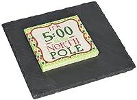 Mud Pie North Pole Slate Board, Black
