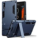 Coque Xperia XZ / XZs, Terrapin Double Couche Étui Rigide avec Fonction Stand pour Sony Xperia XZ / XZs Étui - Bleu Foncé