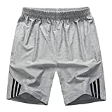 Amawong Herren Shorts Sommer Kurze Hose Elastic Sport-Shorts mit Kordel Stretch