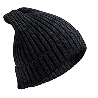 6ed75e94082 FREETOO Beanie Hat with Large Pom Pom Street Style Bobble Hat Cable Knit  Chunky Knit Hat
