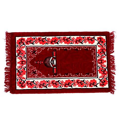 Kicode Muslim Gebet Teppiche Velvet Dicker Stoff Klassische Islam Mat Musala Cotton Printed