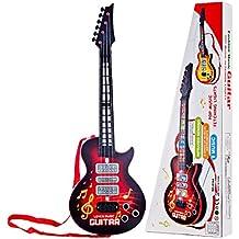 YAKOK 4 Cuerdas Guitarra Electrica Niños Guitarra Bebe Juguete para Niños y Niñas ...