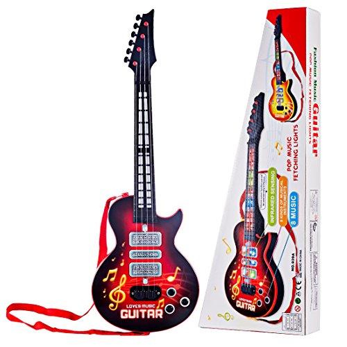 YAKOK 4 Cuerdas Guitarra Electrica Niños Guitarra Bebe Juguete para Niños y...