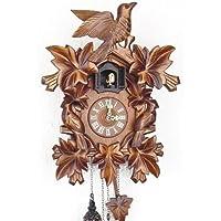 Schwarzwälder Kuckucksuhr aus Echtholz mit batteriebetriebenem Quartzwerk und Kuckuckruf - Angebot von Uhren-Park Eble - Engstler -Dreivogel 35cm- 632 Q