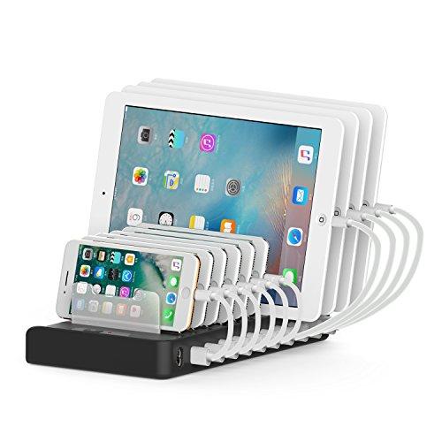 Wasserstein Multi-Geräte-Ladestation: Universal-Multi-Port-USB-Ladestation mit Multi Port-USB-Lade-Anschlüssen, für USB-ladbare Geräte (10 Port)