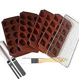 DAUDIGNAC JD 950.15L Kit de Pâtisserie mes Chocolats Délicieux Silicone Marron
