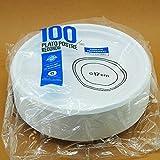 Pack Ahorro 100 Platos Llanos 170mm plástico - Maxi Products