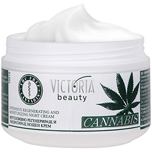 Victoria Beauty - Augencreme mit Hanföl - Gesichtscreme mit Omega 3 und 6 (1 x 50 ml) - Augencreme mit einer regenerierenden und feuchtigkeitsspendenden Wirkung - Nachtcreme für Frauen und Männer