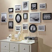 Conjuntos de Pared de Collage de Fotos de Cuadros múltiples de Madera para 16 Fotos en