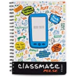 Classmate Soft Cover 6 Subject Spiral Binding Selfie Notebook, Single Line, 250 Pages