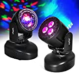 Pack 2 Scheinwerfer zu LEDs Magic Ball 6 Farben Effekt Astro + Wash RGB + UV