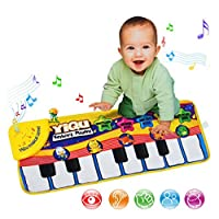 Baby Kids Keyboard Musical Piano Dancing Mat Crawl Mat Soft Funny Animals Baby Toy Blanket Touch Play Learn Singing Gift Carpet Kids Baby Piano Toy (Piano Mat)
