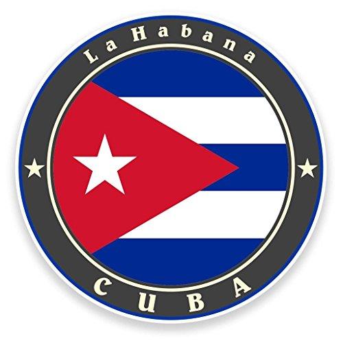 Preisvergleich Produktbild 2x Kuba Flagge Vinyl Aufkleber Aufkleber Laptop Reise Gepäck Auto Ipad Schild Fun # 9242 - 10cm/100mm Wide