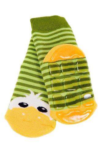 Weri Spezials Baby Voll-ABS Socke Enten Motiv in Gruen Gr.18-19 (9-12 Monate) (Hausschuhe-socken Für Baby Mädchen)