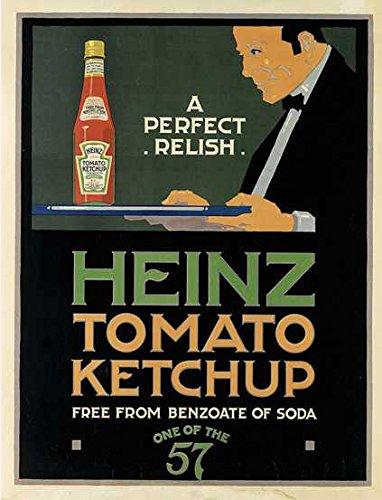 Heinz Tomato Ketchup rétro Style Shabby Chic Style Vintage Acrylique Aimant de réfrigérateur ou Peut être utilisé d'une Plaque