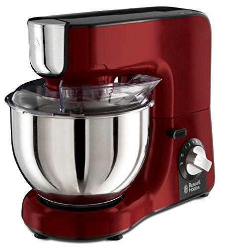 Russell Hobbs 23480-56 Küchenmaschine Desire, planetarisches Rührsystem, inkl. Edelstahl-Rührschüssel, Rührarm kippbar, 1000 Watt, rot