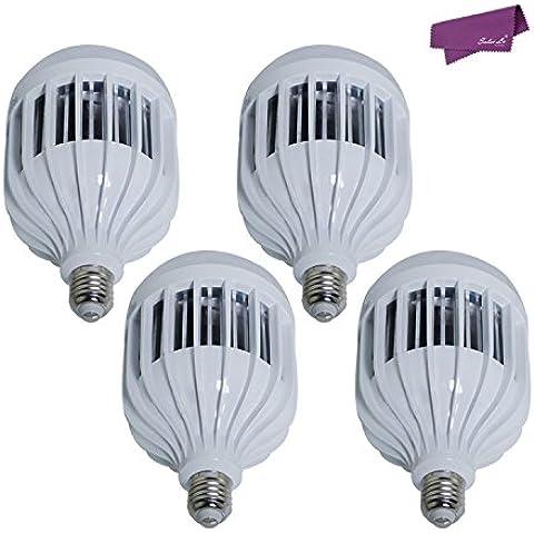 SalesLa 18W E27 LED bulbo del globo pelota de golf de la lámpara de la luz del punto (4pcs, blanco cálido)