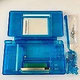 Ensemble complet de réparation pièces boîtier Coque de remplacement pour NDSL Console Nintendo DS Lite avec bouton kit Bleu transparent
