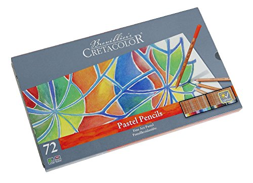 Cretacolor Pastel Pencils, Pastellstifte mit hoher Lichtechtheit, 72 Farben