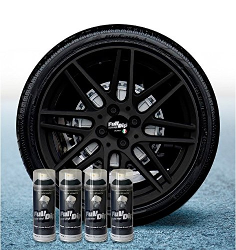 Sophisticauto FULL DIP PACKS AHORRO LLANTAS 4 SPRAYS NEGRO MATE