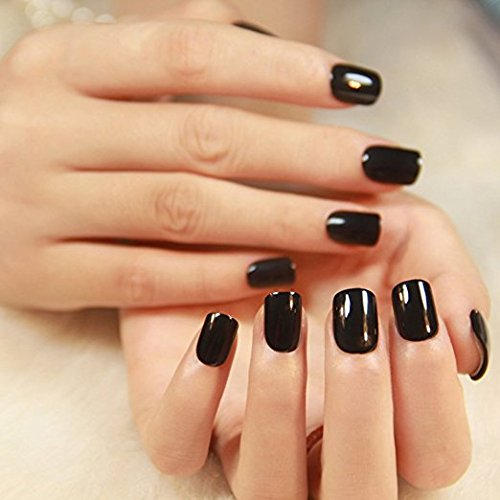 yunai-gefalschte-nagel-24pcs-reiner-gummi-quadratischer-kopf-kurzer-absatz-nagel-kunst-falsche-nagel