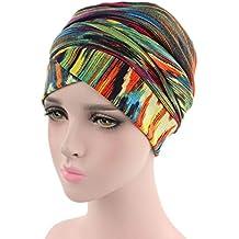 96c2c57593b Moonuy Femmes Bonnet Musulman Respirant Turban Élastique Imprimer Longue  Queue Élégant Chapeau Tête Écharpe Unisex Adulte