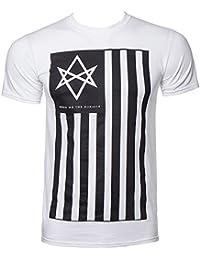 Official T Shirt BRING ME THE HORIZON White ANTIVIST Flag All Sizes