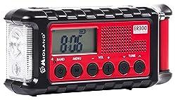Midland Er300 Handkurbel Surival Outdoor-radio, Ukw, Inkl. Powerbank Funktion, Solar, Handkurbel Und Sos Lampe